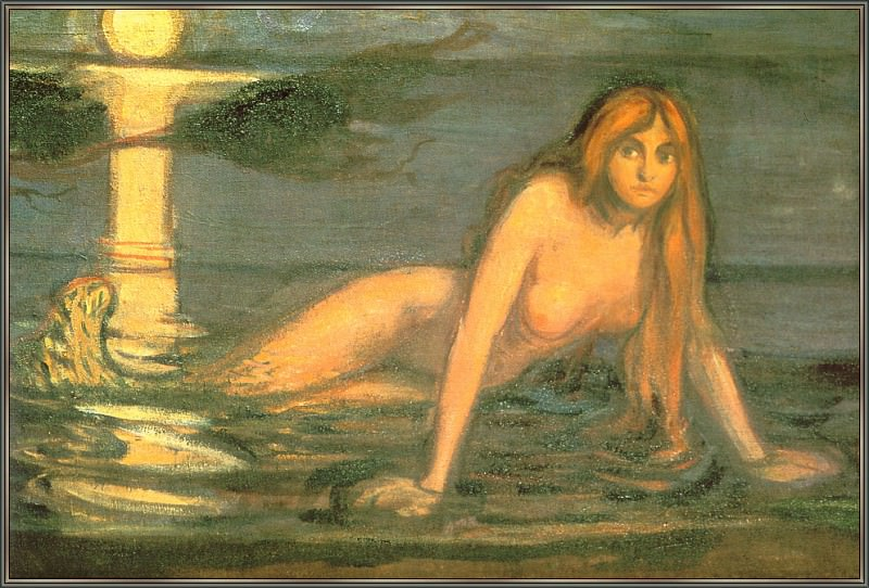 Mermaid (The Lady From The Sea - detail). Edvard Munch