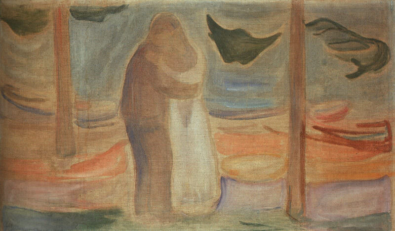 MUNCH PAR PA STRANDEN NATIONAL GALLERY SMPK, BERLIN. Edvard Munch