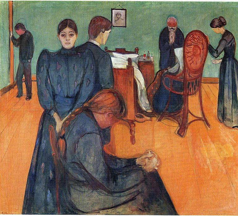 Death in the Sickroom. Edvard Munch