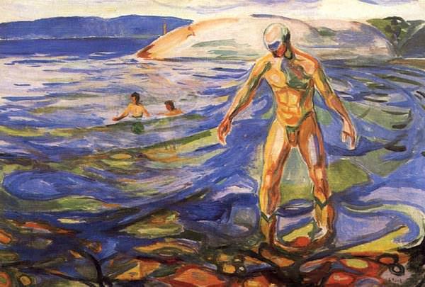 MAN I BADET OSLO, MUNCH MUSEET. Edvard Munch