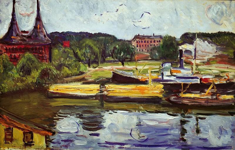 At the Holstentor. Edvard Munch