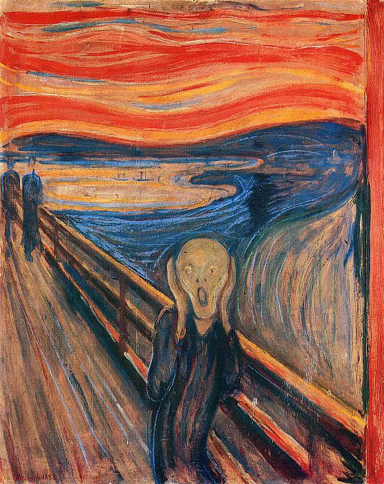 The Scream. ver. 1893. Edvard Munch