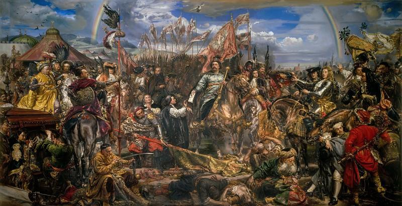 Король Ян Собеский, победитель турков, у ворот Вены. Ян Матейко