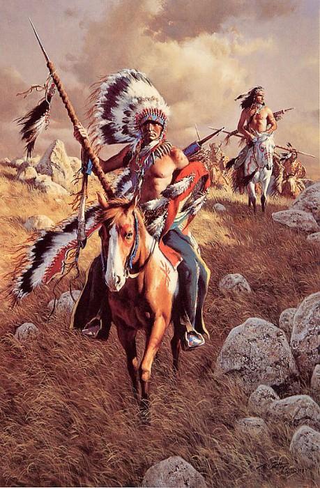 Возвращение воинов племени Строптивые Птицы. Франк Маккарти