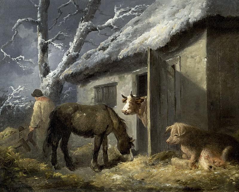 Ферма зимой. Джордж Морланд