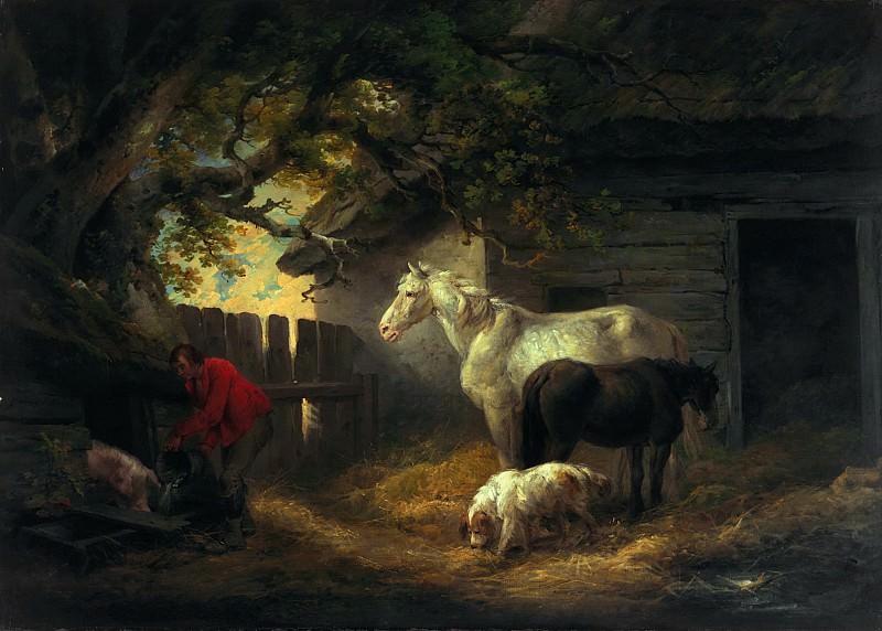 Двор фермы 1792. Джордж Морланд (A farmyard)