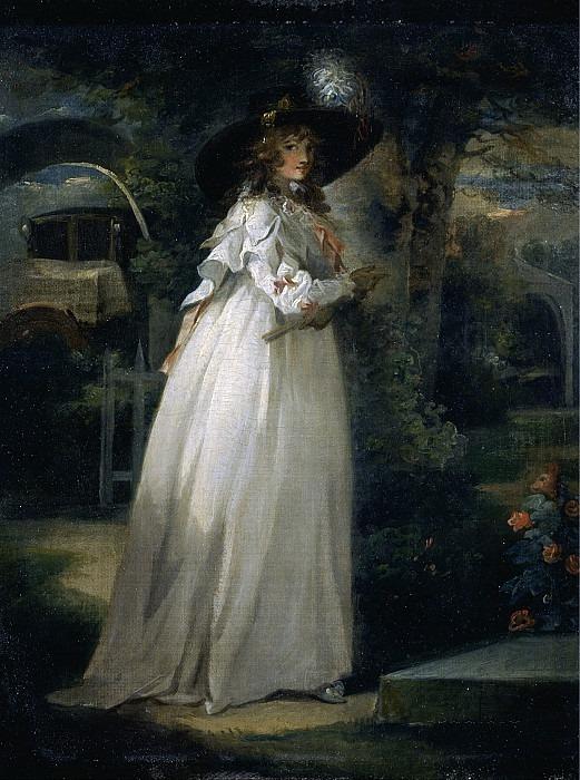 Девушка в саду. Джордж Морланд