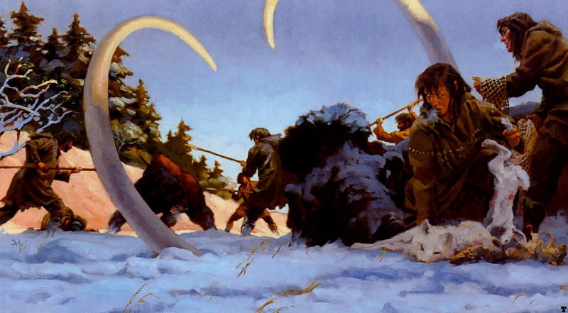 cave bear attack. Gregory Manchess