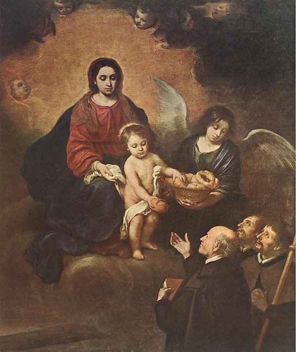 Младенец Иисус, раздающий хлеб пилигримам. Бартоломе Эстебан Мурильо