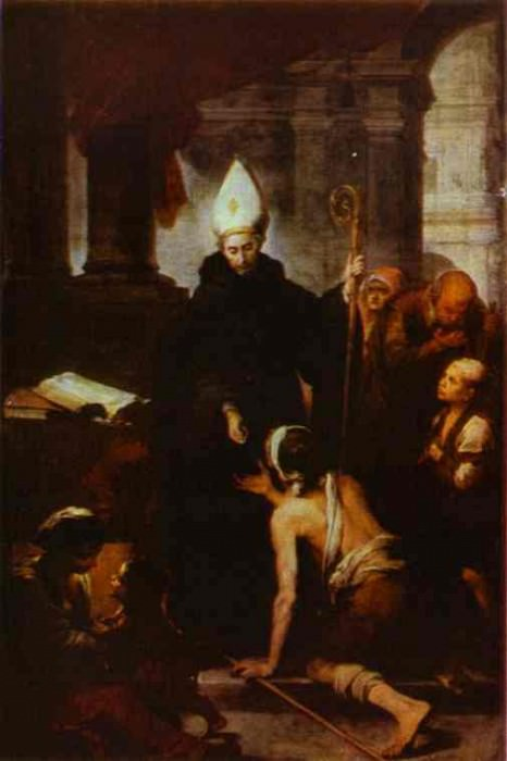 St. Thomas Villanueva Giving Alms. Bartolome Esteban Murillo
