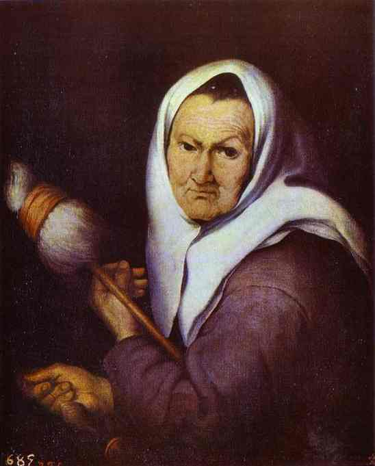 Old Woman with a Distaff. Bartolome Esteban Murillo
