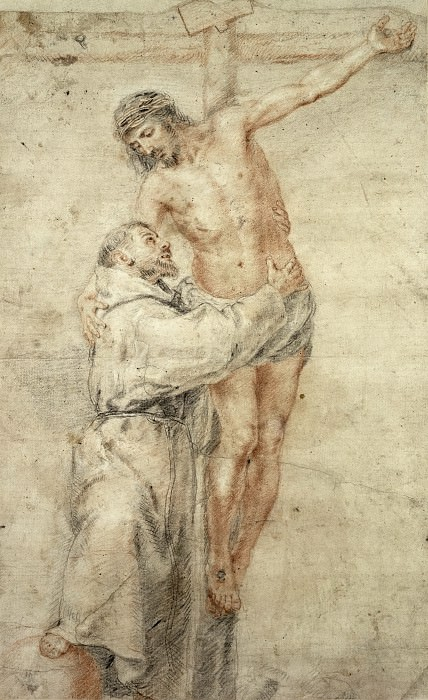St Francis Rejecting the World and Embracing Christ. Bartolome Esteban Murillo