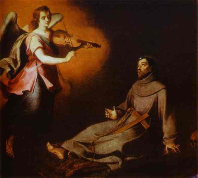 Vision to St. Francis. Bartolome Esteban Murillo