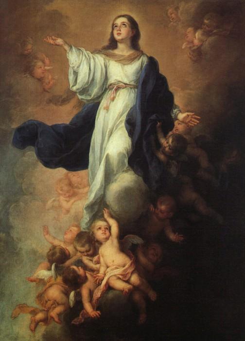 Assumption of the Virgin. Bartolome Esteban Murillo