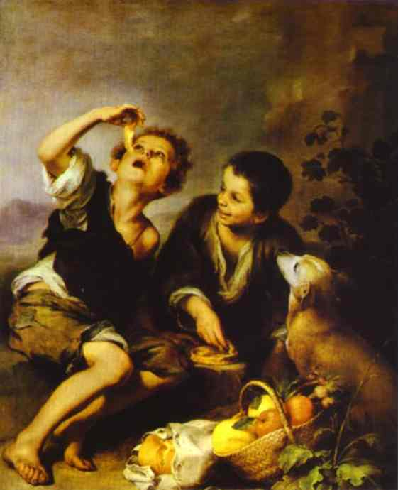 The Pie Eater. Bartolome Esteban Murillo