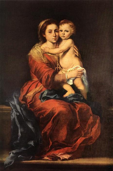 Virgin and Child with a Rosary. Bartolome Esteban Murillo