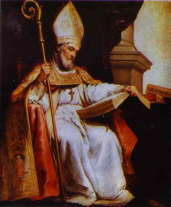 St. Leander. Bartolome Esteban Murillo