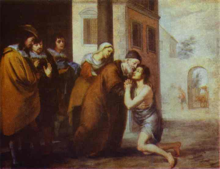 The Return of the Prodigal Son. Bartolome Esteban Murillo