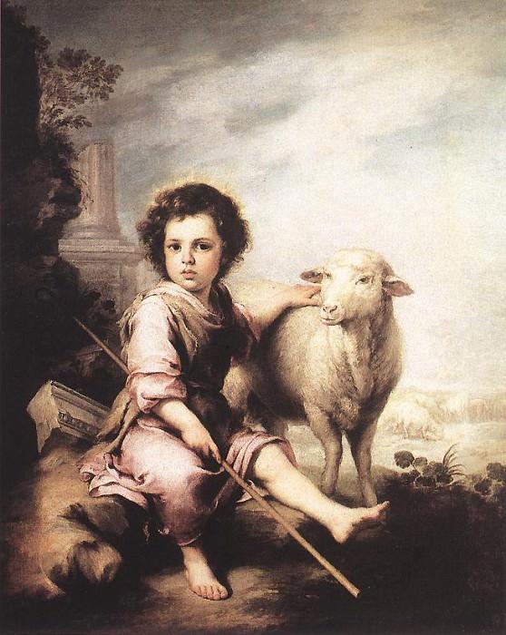Christ the Good Shepherd. Bartolome Esteban Murillo