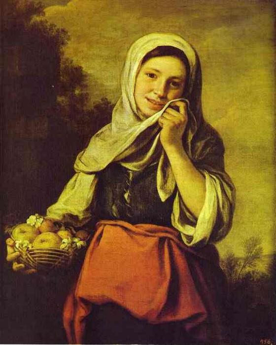 A Girl with Fruits. Bartolome Esteban Murillo