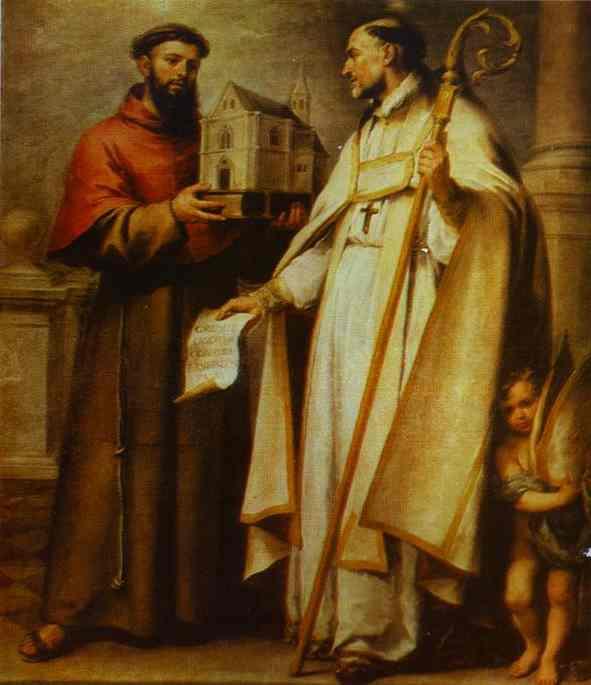 St. Leander and St. Bonaventura. Bartolome Esteban Murillo