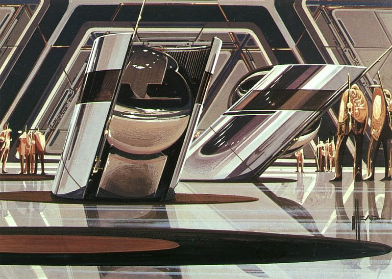 GoldDroidGuards. Syd Mead