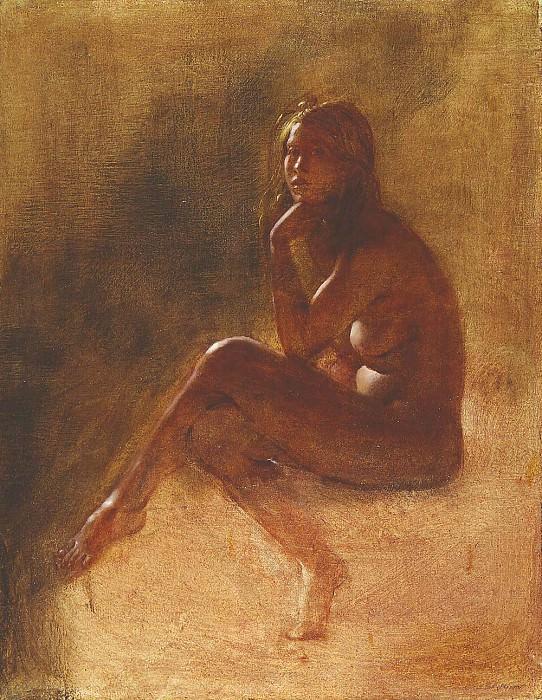 PRIMAVERA oil on canvas 47H by 36W. Frank Mason
