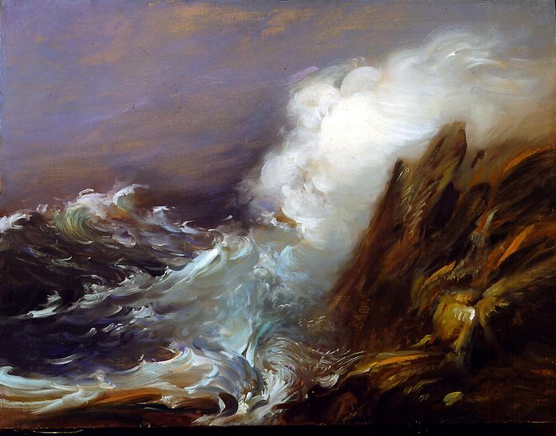 EAGLE ROCK oil on canvas 32H by 42W. Frank Mason