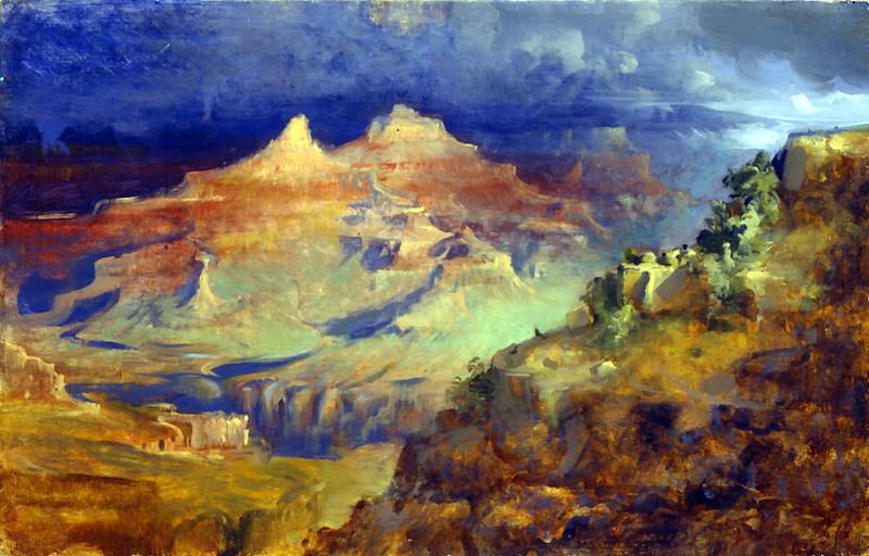 GRAND CANYON oil on panel 14H by 22W. Frank Mason