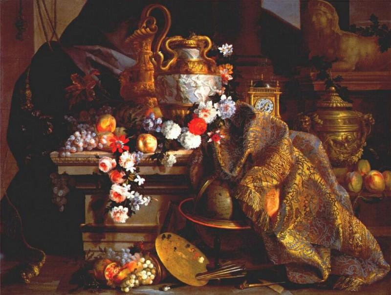 monnoyer sumptuous still life 1665. Jean-Baptiste Monnoyer