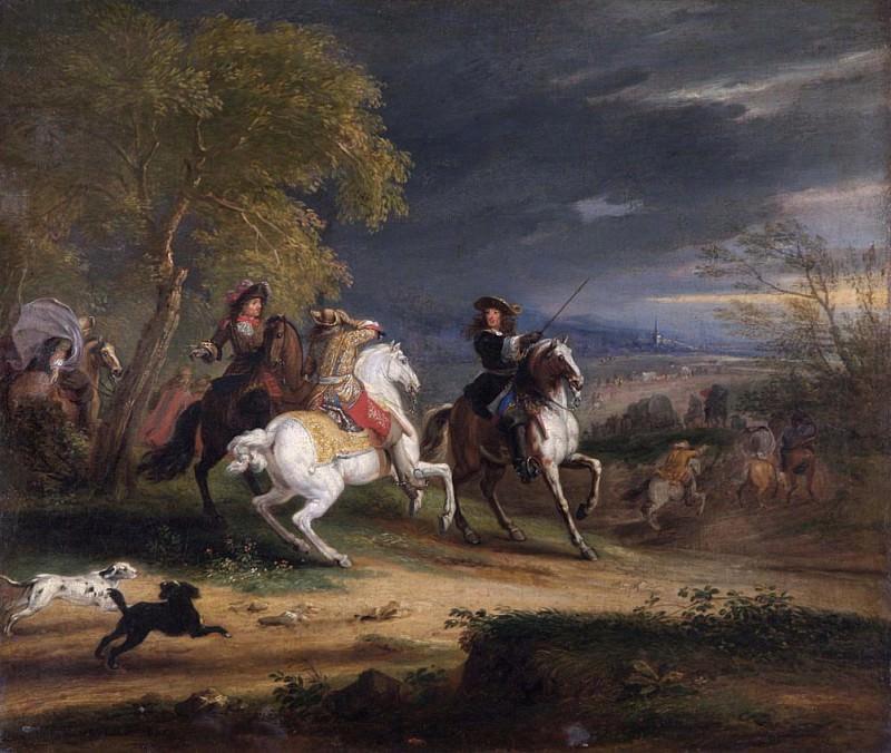 Французские генералы, прибывающие к осажденному городу. Адам Франс ван дер Мейлен