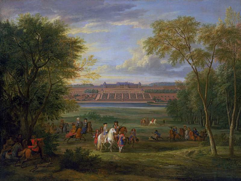 The Chateau of Saint Germain. Adam Frans Van der Meulen