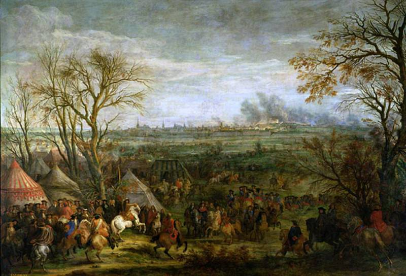 The Taking of Cambrai in 1677 by Louis XIV (1638-1715). Adam Frans Van der Meulen