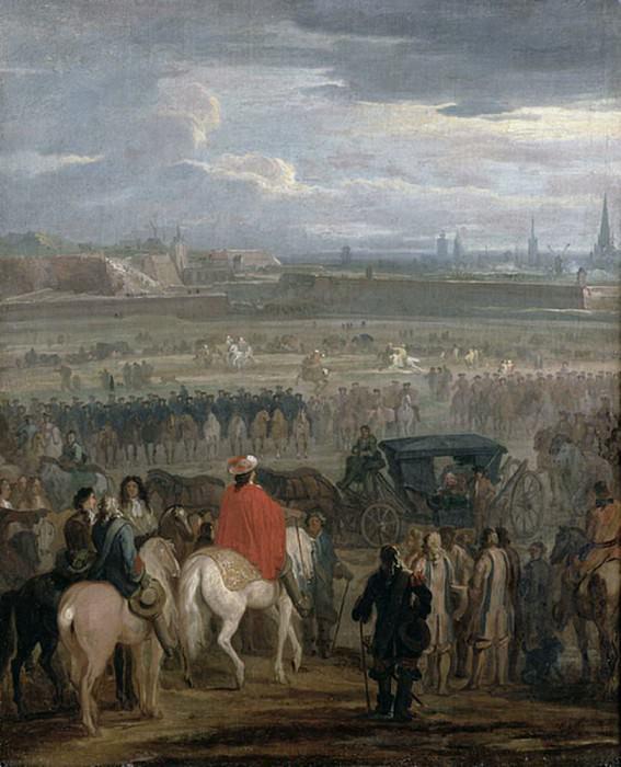 Surrender of the Citadel of Cambrai, 18th April 1677. Adam Frans Van der Meulen