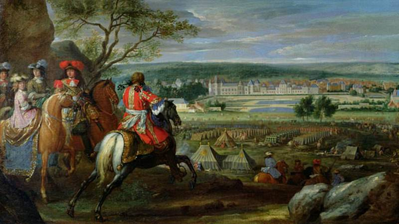View of the Palace of Fontainebleau from the Flowerbed Side. Adam Frans Van der Meulen