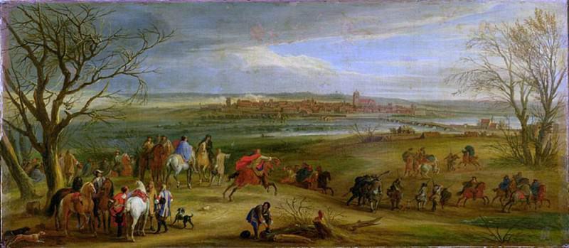 View of the Siege of Dole, 14 February 1668. Adam Frans Van der Meulen