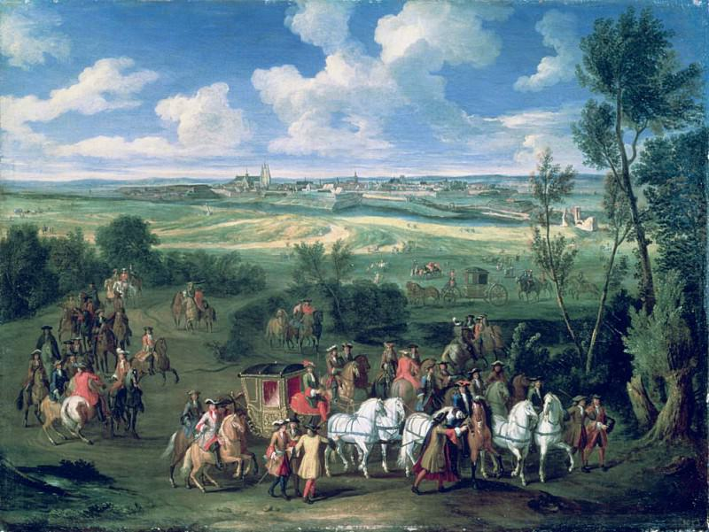 The Royal Cortege. Adam Frans Van der Meulen