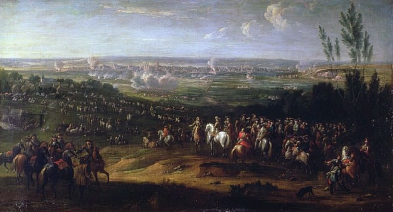 The Siege of Maastricht in 1673. Adam Frans Van der Meulen