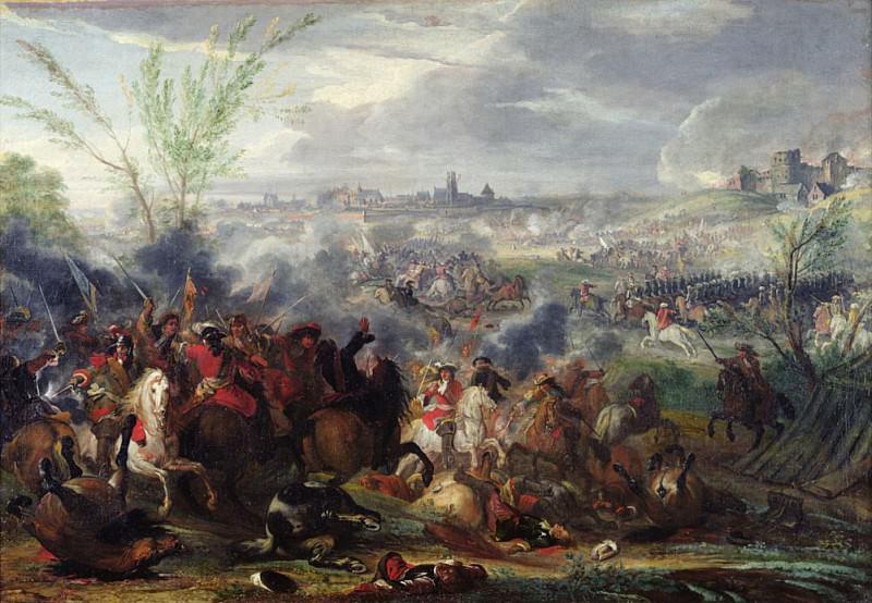 Study for Siege of a Flemish Town. Adam Frans Van der Meulen