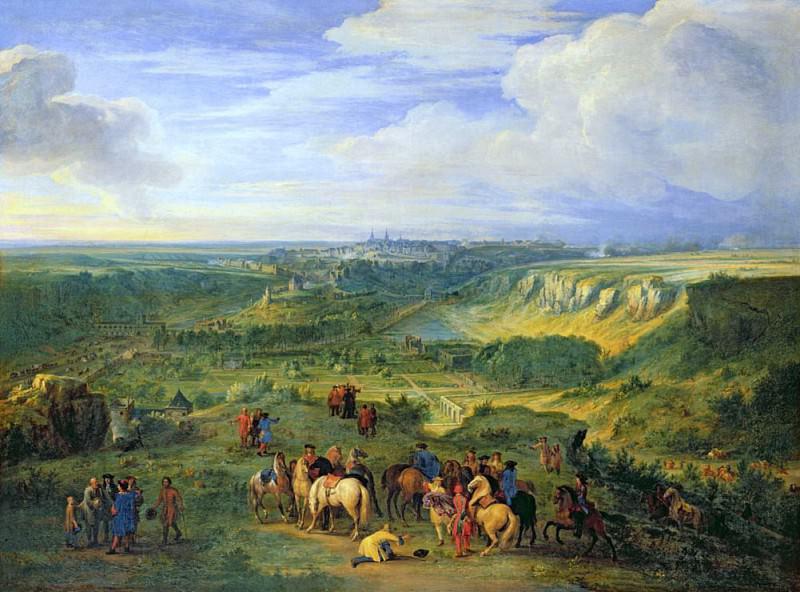 View of the city of Luxembourg from near the Mansfeld Baths. Adam Frans Van der Meulen
