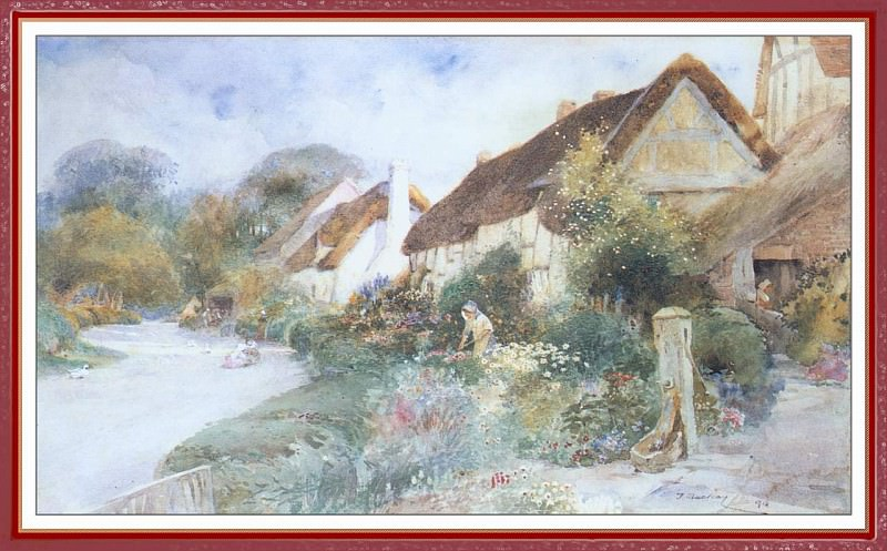 Village Scene. Thomas Mackay