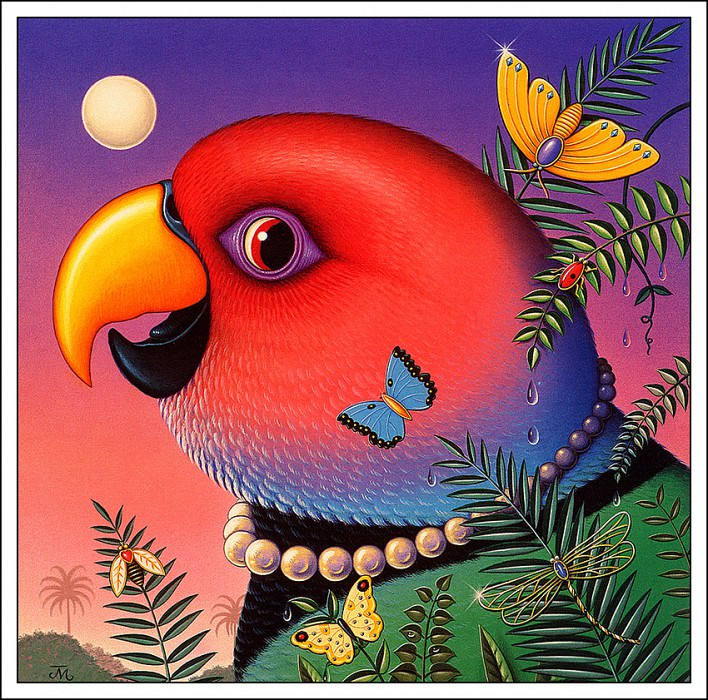 Jeweled Parrot. James Marsh