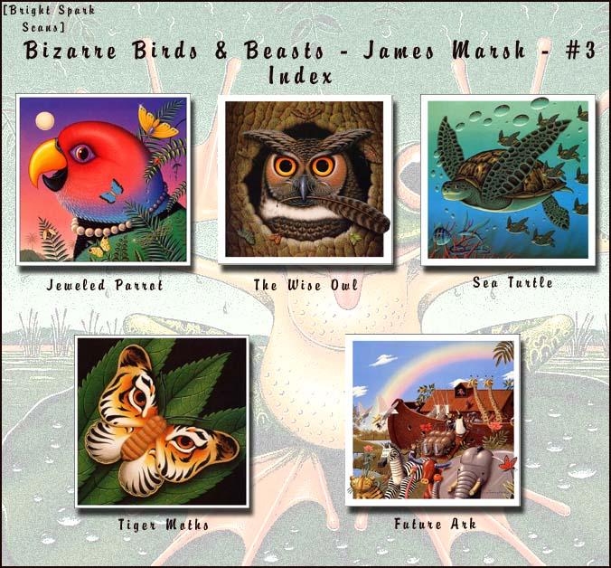 !bs BizarreBirds&Beasts JamesMarsh 03 Index. James Marsh
