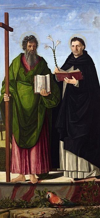 Святой Апостол Андрей и Святой Доминик Гусманский. Паоло Морандо