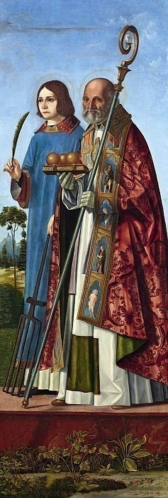 Святой мученик Лаврентий и святитель Николай Барийский. Паоло Морандо