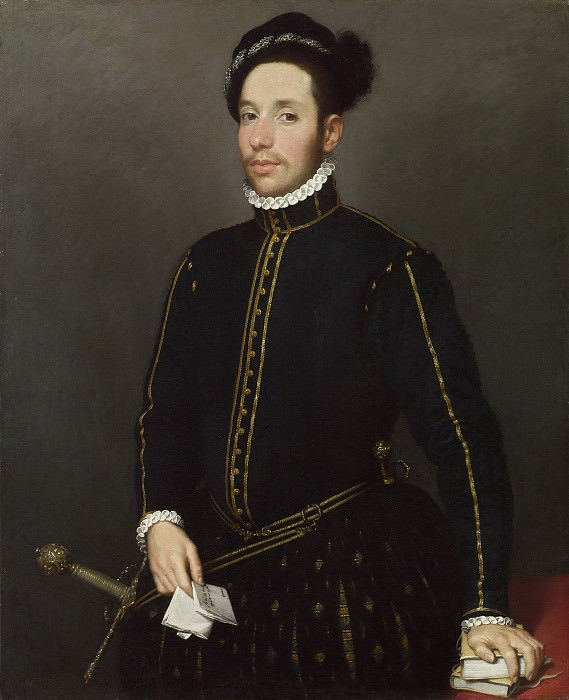 Portrait of a Left-Handed Gentleman with Two Quartos and a Letter] [Il Gentile Cavaliere. Giovanni Battista Moroni