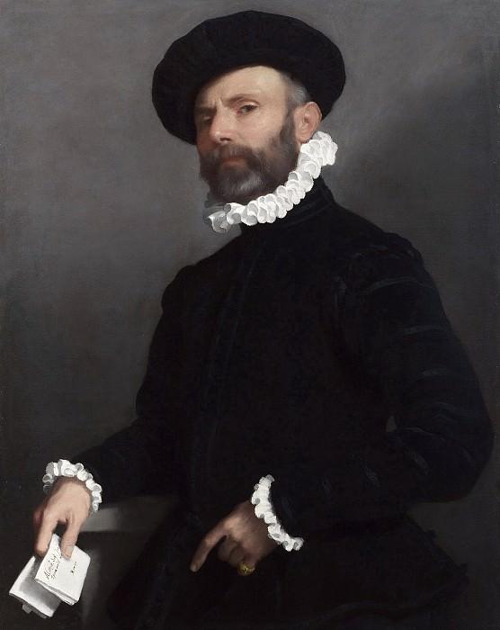 Портрет мужчины, держащего письмо или Портрет адвоката, 1560-е. Джованни Баттиста Морони