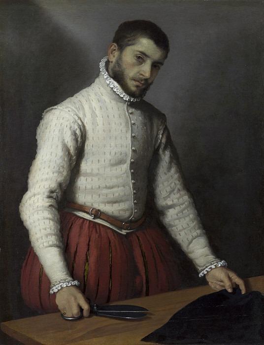 Портной ca 1570, 97.8x74.9 cm, NG London. Giovanni Battista Moroni (The Tailor; Il Tagliapanni)