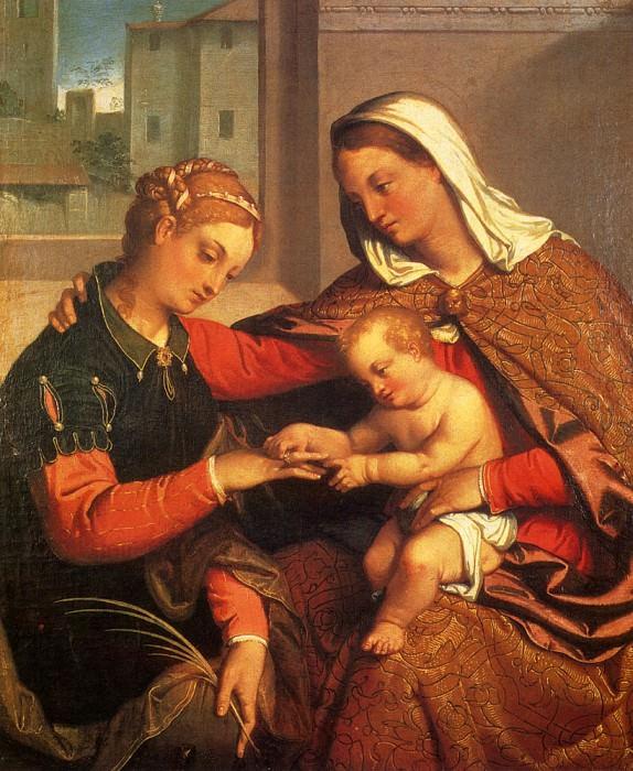 The Mystic Marriage Of St Catherine. Giovanni Battista Moroni