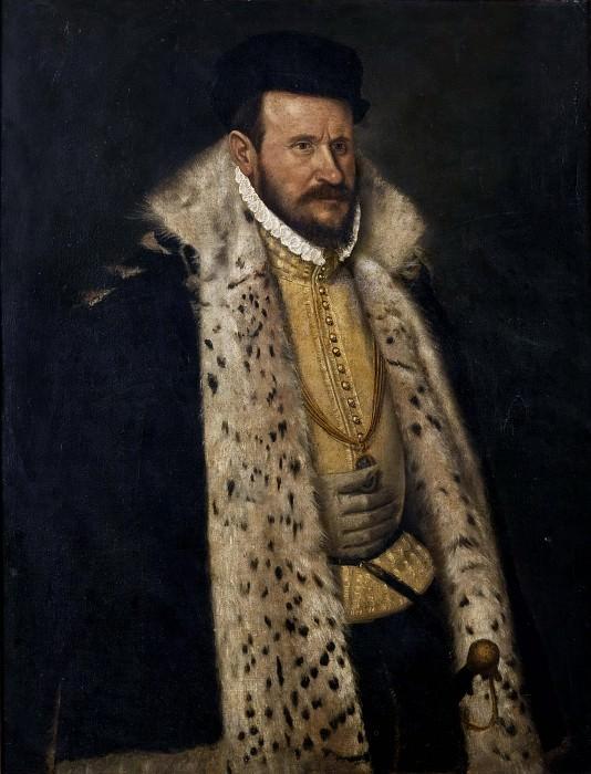 Portrait of a Man in a Furlined Coat. Giovanni Battista Moroni (School of)